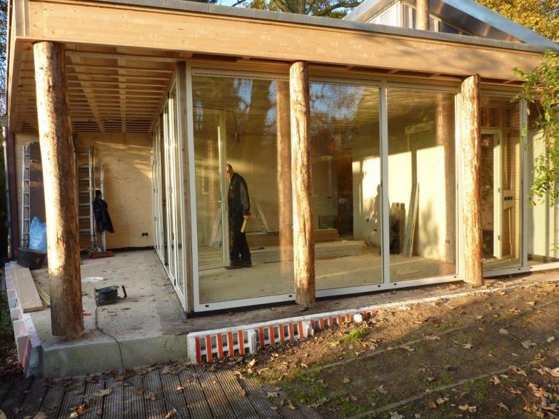 Aluminium vouwwand in houten constructie referenties van goethem - Steen en constructie ...