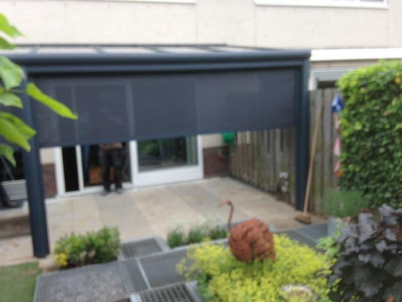 Veranda zonwering referenties van goethem for Montant aluminium pour veranda